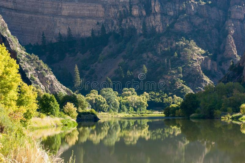 Glenwood峡谷的科罗拉多河 免版税库存照片