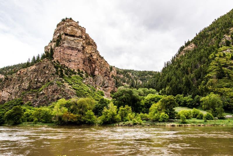 Glenwood Canyon in Colorado stock image