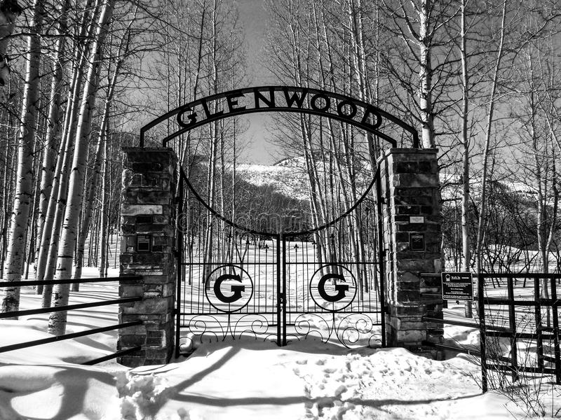 Glenwood kyrkogård i Park City royaltyfri foto