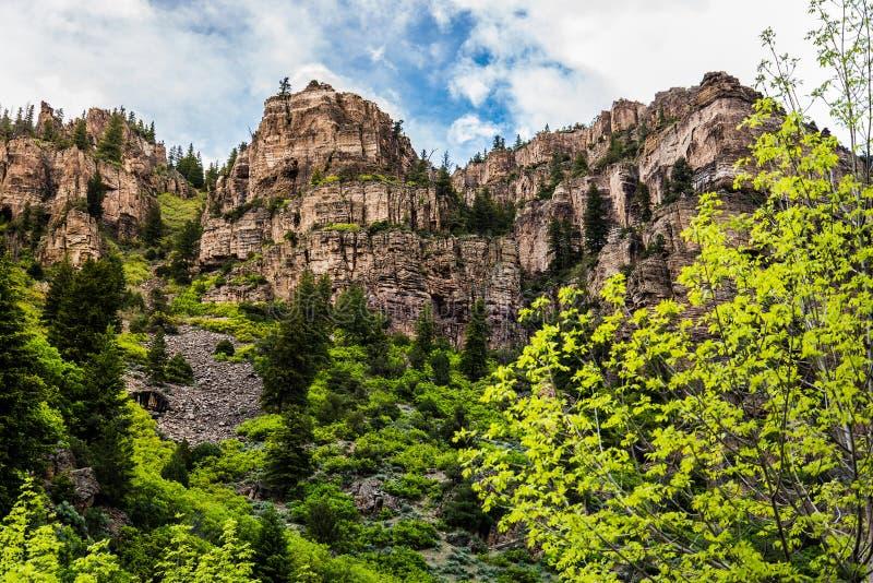 Glenwood-Schlucht in Colorado lizenzfreie stockfotos