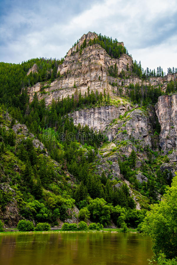 Glenwood-Schlucht in Colorado lizenzfreies stockfoto