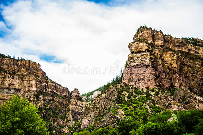 Glenwood-Schlucht in Colorado lizenzfreie stockfotografie