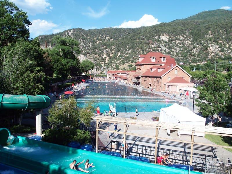 Glenwood Skacze Gorących wiosen basen zdjęcia royalty free