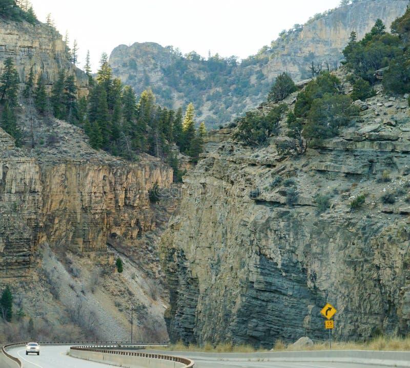 Glenwood Springs kanjon arkivbilder