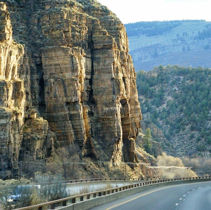 Glenwood Springs kanjon royaltyfri fotografi