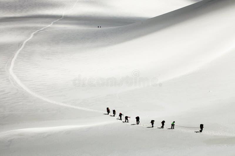 Gletscherüberfahrt lizenzfreie stockbilder
