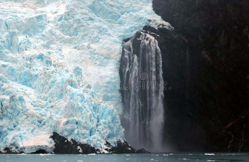 Gletscher in Alaska stockbild
