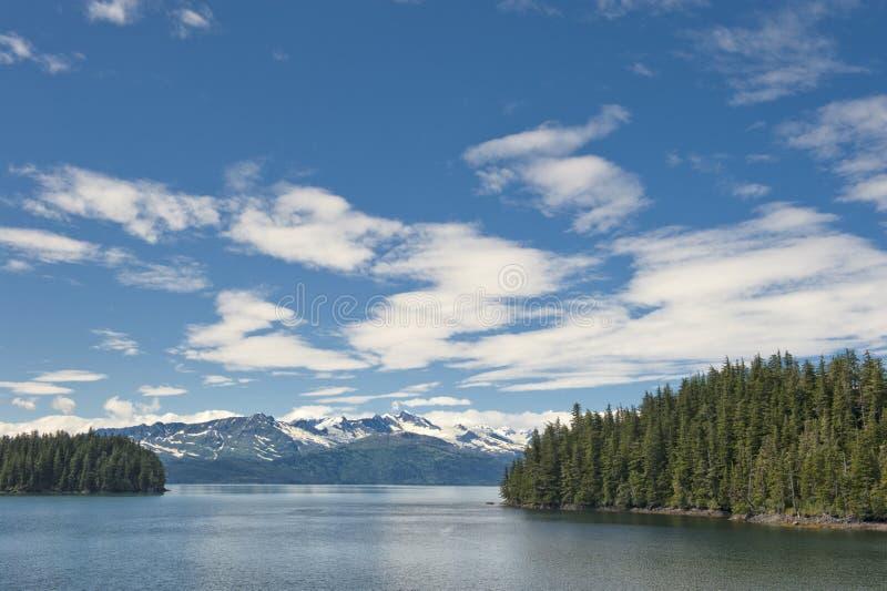 Gletscher-Ansicht Ton Alaska-Prinzen William stockbild