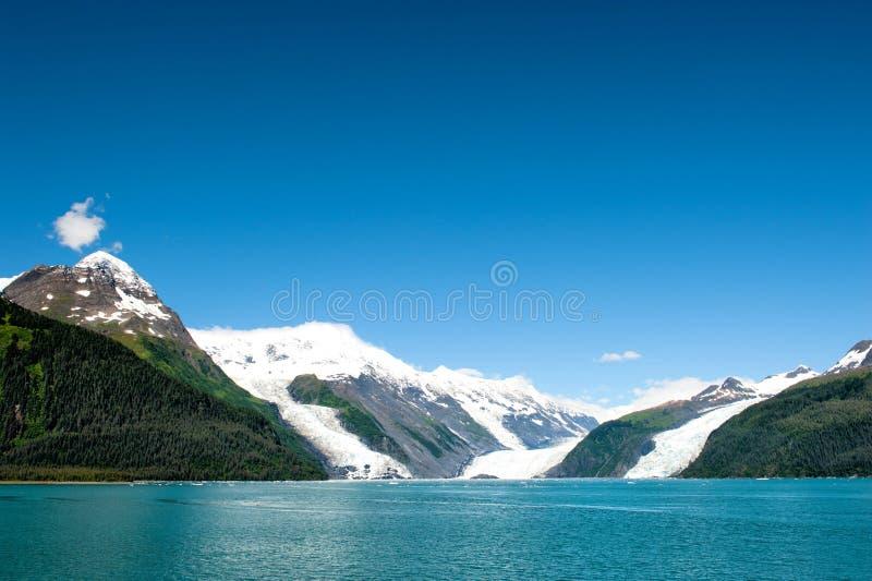 Gletscher-Ansicht Ton Alaska-Prinzen William stockfotografie