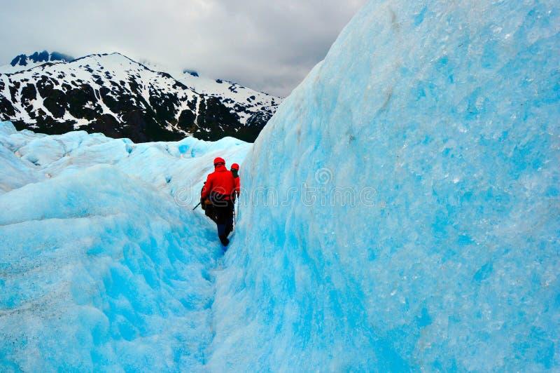 Gletscher-Expedition lizenzfreies stockfoto