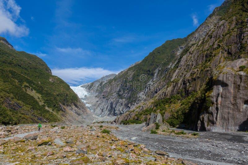 Gletscher Franz Josef stockfotografie