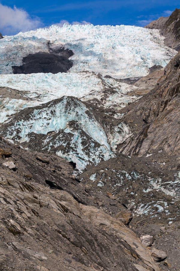 Gletscher Franz Josef stockbilder
