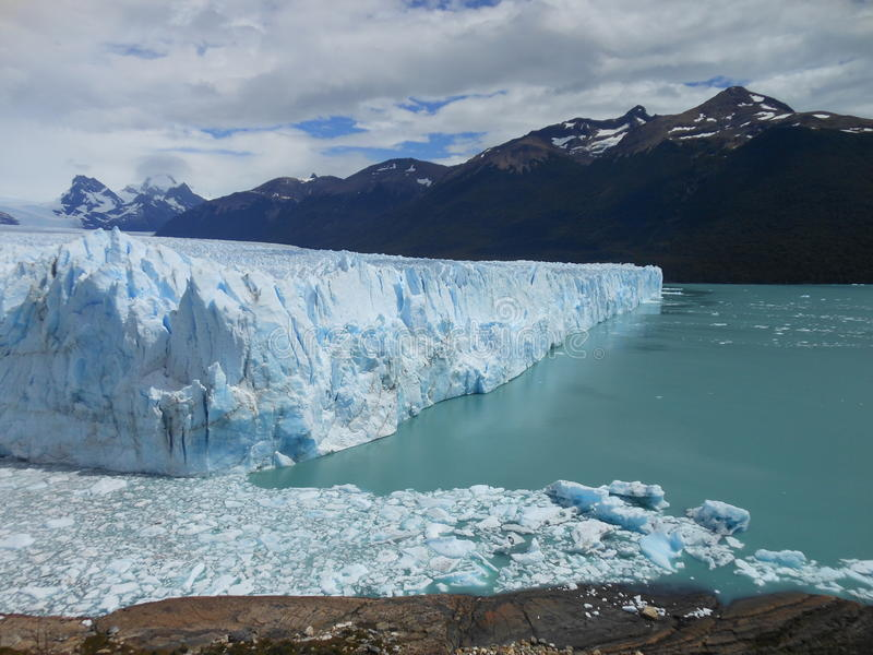 Gletscher Perito Moreno, Argentinien stockbilder