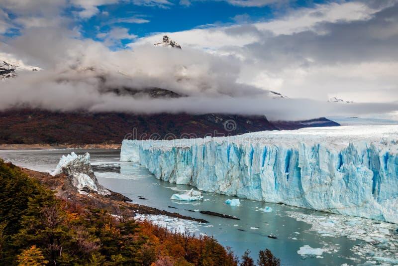 Gletscher Perito Moreno National Park im Herbst Argentinien, Patagonia lizenzfreie stockfotografie
