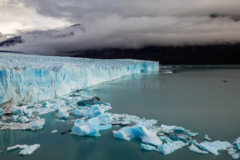 Gletscher Perito Moreno National Park im Herbst Argentinien, Patagonia lizenzfreies stockfoto