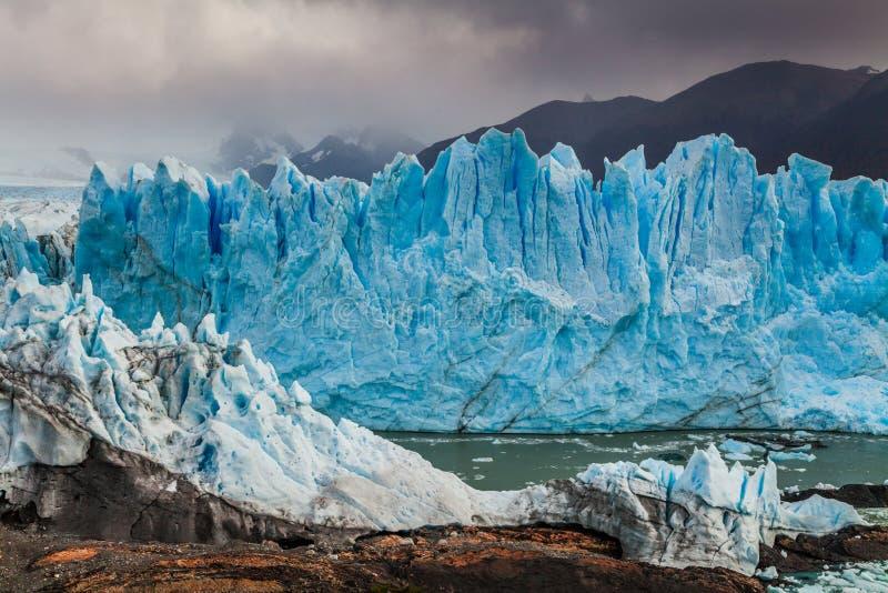 Gletscher Perito Moreno National Park im Herbst Argentinien, Patagonia lizenzfreie stockfotos