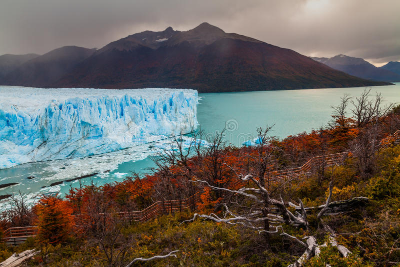 Gletscher Perito Moreno National Park im Herbst Argentinien, Patagonia stockfotos