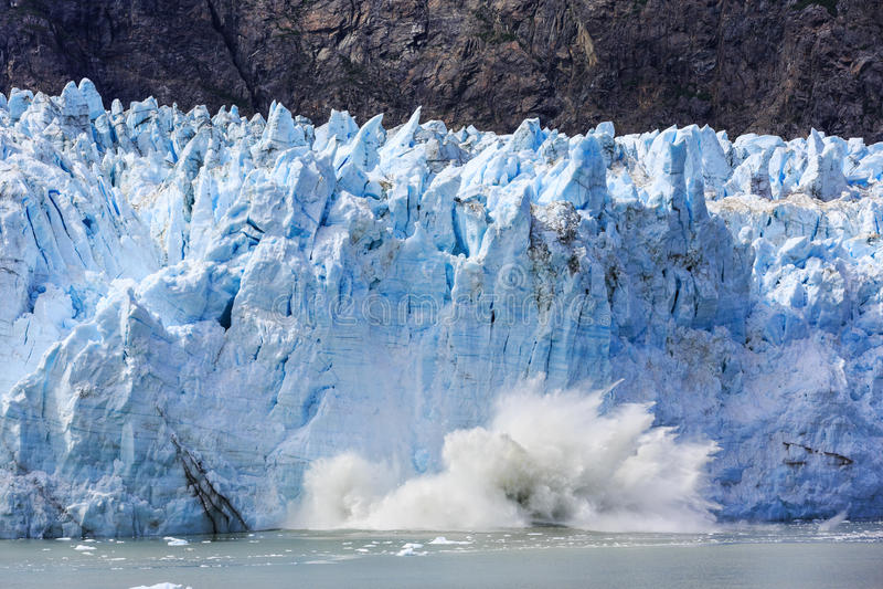 Gletscher-Schacht, Alaska stockbild