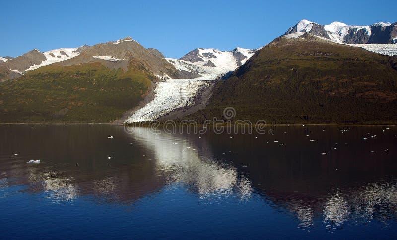Gletscher-Schacht-Blau stockfoto