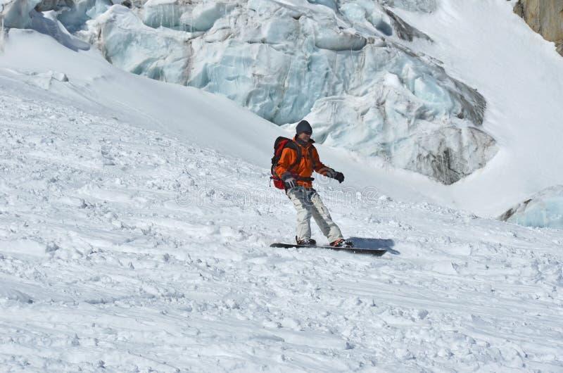 Gletscher-Sport lizenzfreies stockfoto