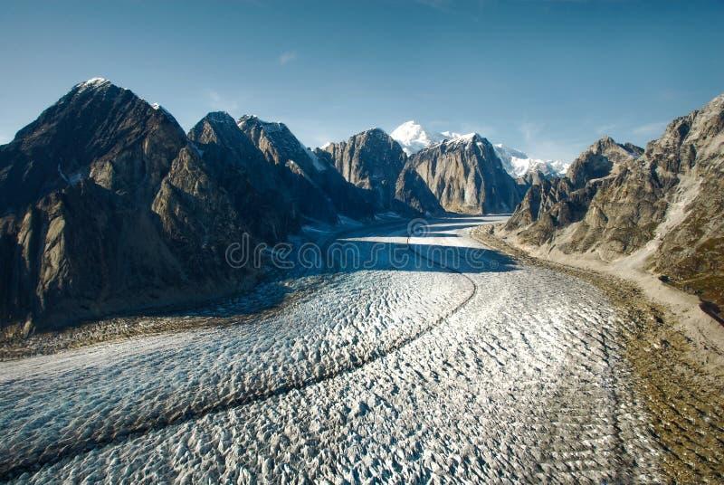Gletscher und Montierung McKinley stockbild