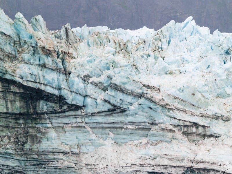 Gletschergesicht mit Paginierungsmuster lizenzfreies stockfoto