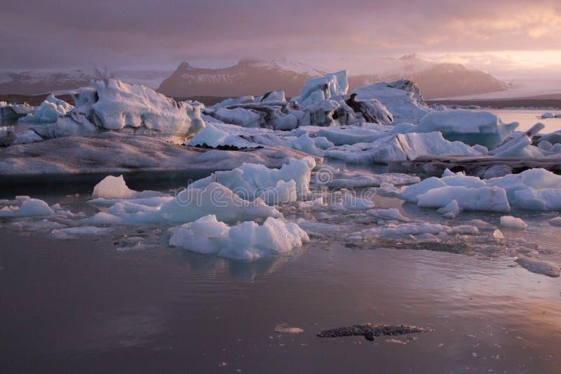 Gletscherlagune, Island stockbild