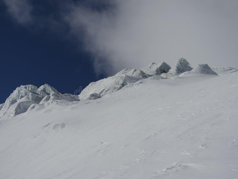 Gletschernahaufnahme lizenzfreies stockbild