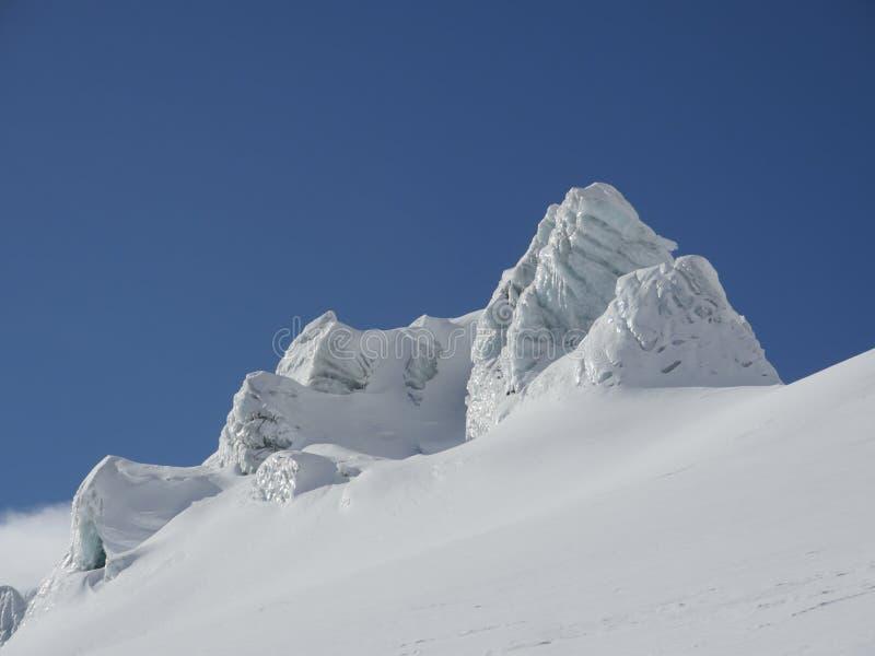 Gletschernahaufnahme stockfoto