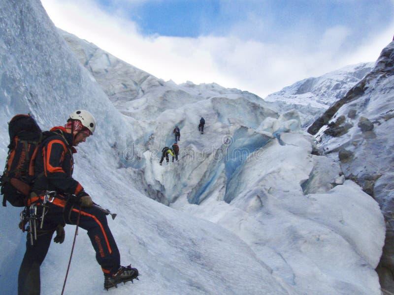 Gletscherrettung lizenzfreies stockbild