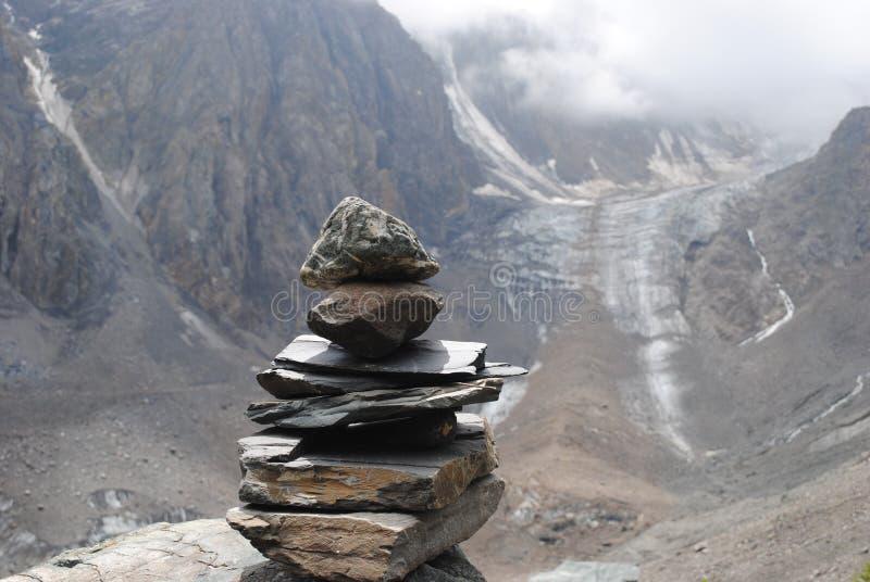 Gletsjer Akturu royalty-vrije stock afbeeldingen