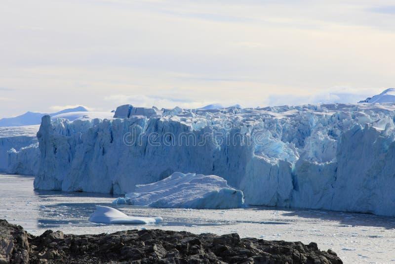 Gletsjer in Antarctica stock foto
