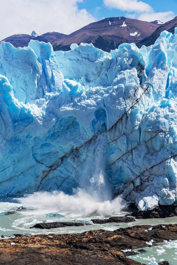 Gletsjer in Argentinië stock fotografie