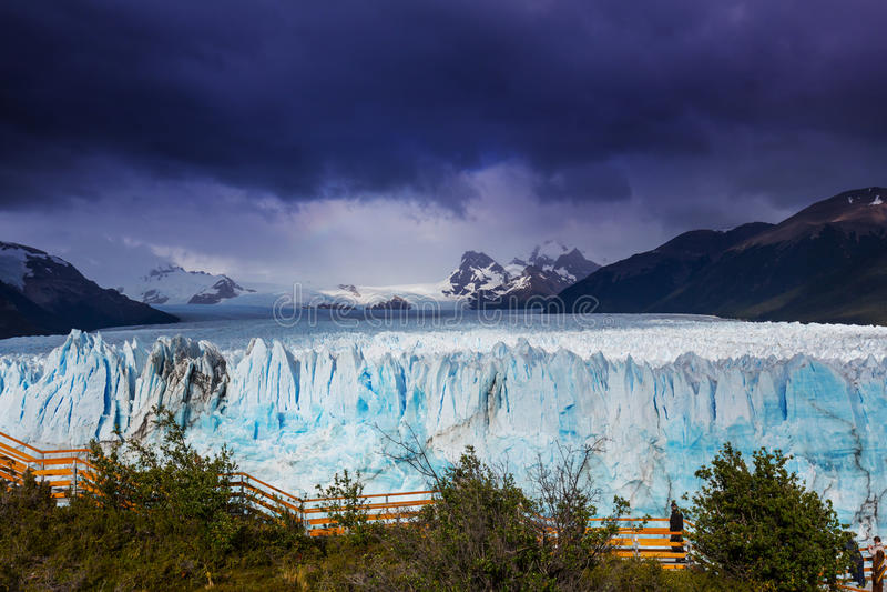 Gletsjer in Argentinië royalty-vrije stock afbeelding