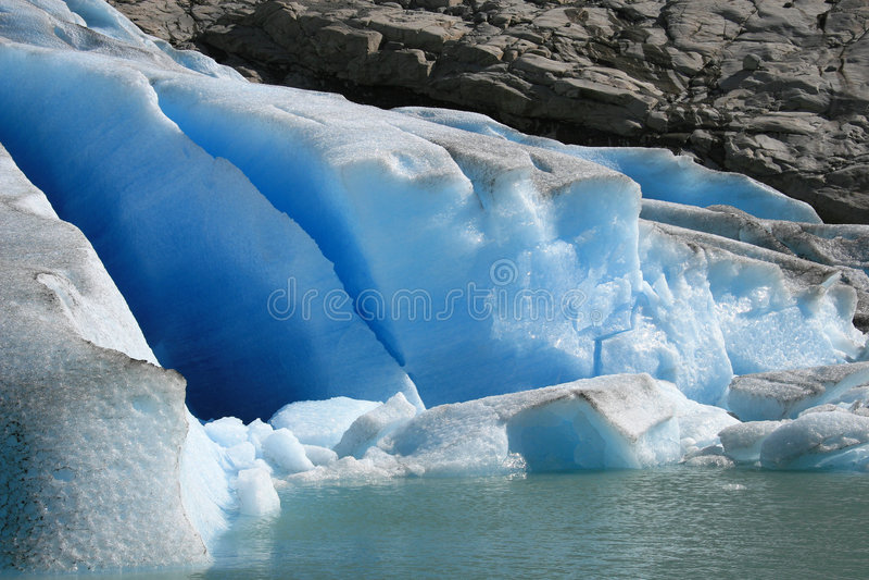Gletsjer in detail stock foto's