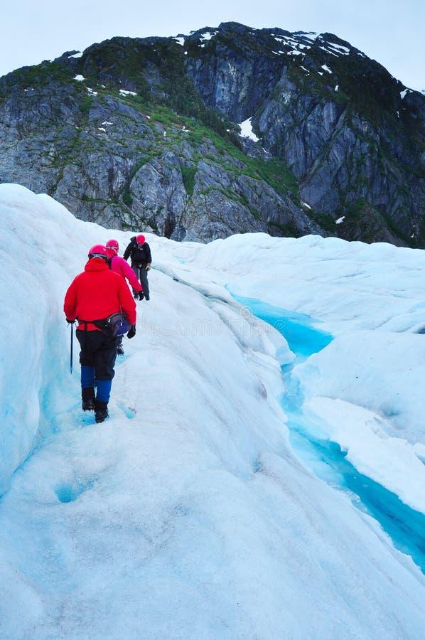 Gletsjer en mooie aard van Alaska royalty-vrije stock afbeeldingen