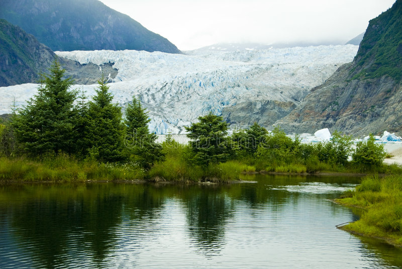 Gletsjer in Juneau Alaska stock foto's