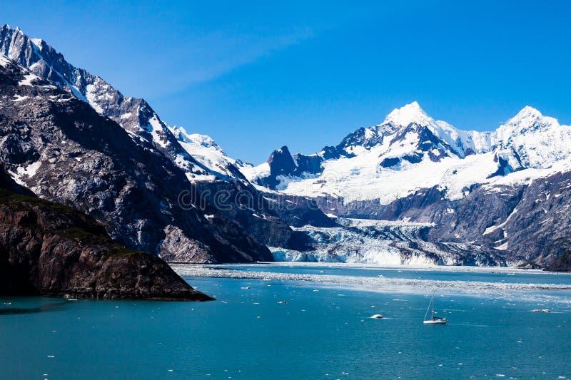 Gletsjer Nationaal park in Alaska stock afbeelding