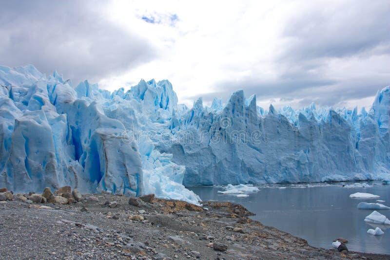 Gletsjer van Perito Moreno in Los Glaciares Nationaal Park in Argentinië stock afbeelding