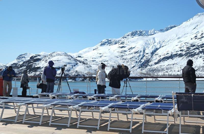 Gletsjerbaai in Alaska stock afbeelding