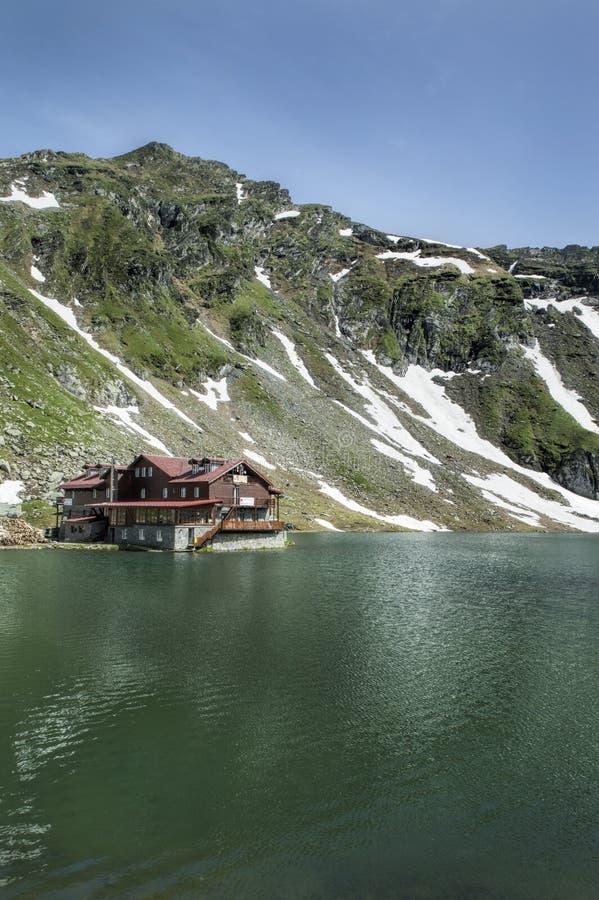 Gletsjermeer Balea, Roemenië royalty-vrije stock fotografie
