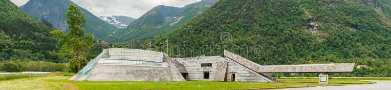 Gletsjermuseum in Noorwegen stock afbeeldingen