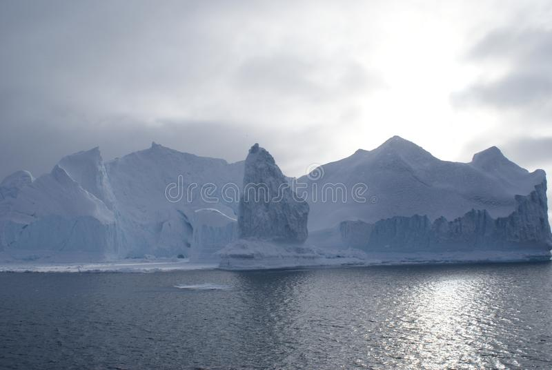 Gletsjers in Disko-Baai, Groenland royalty-vrije stock afbeeldingen