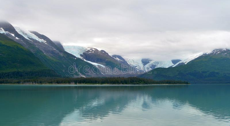 Gletsjers in Kenai-Fjorden Nationaal Park stock fotografie