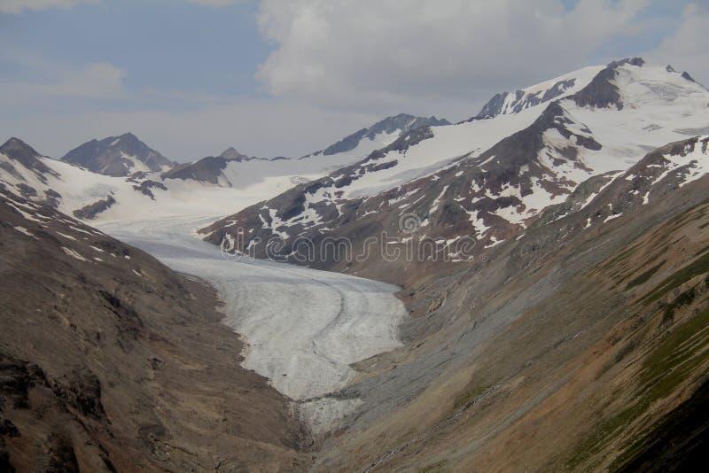 Gletsjervallei, otztal alpen, Oostenrijk royalty-vrije stock afbeelding