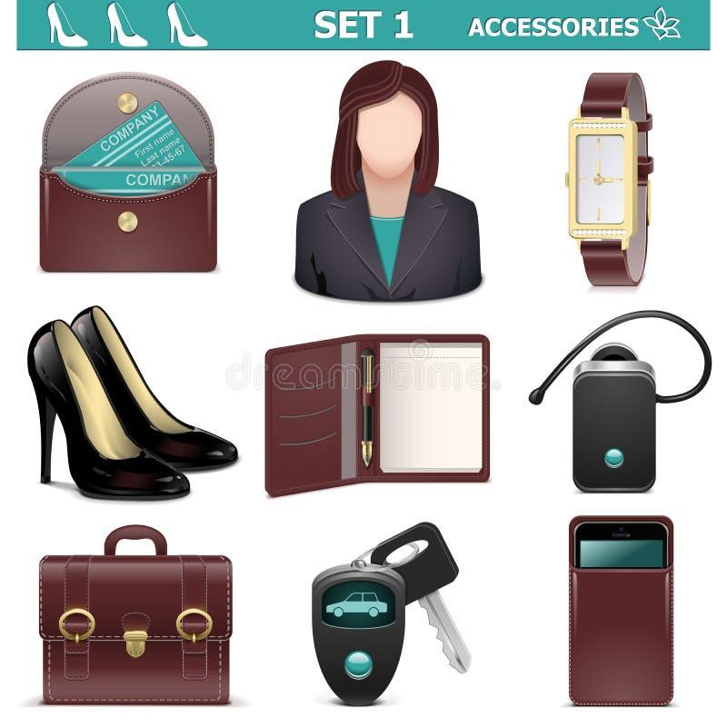 Gli accessori femminili di vettore hanno messo 1 royalty illustrazione gratis