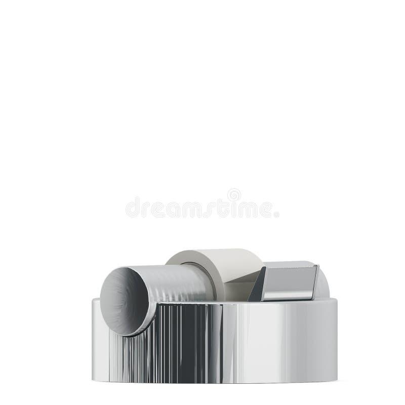 Gli accessori isometrici 3D dell'ufficio rende illustrazione di stock