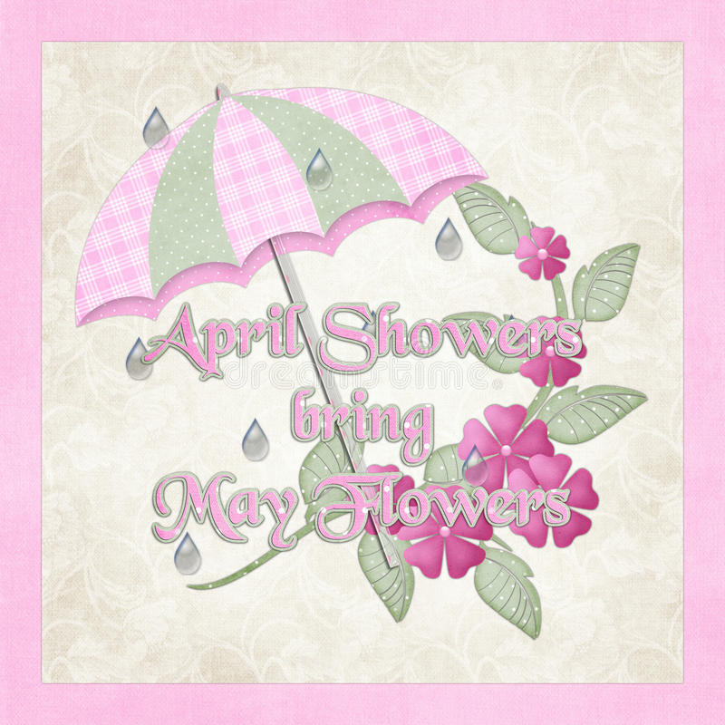 Gli acquazzoni di aprile portano possono fiori illustrazione di stock