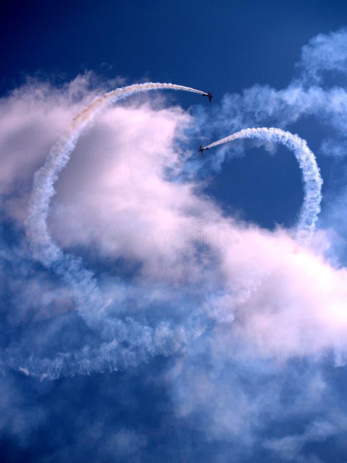Gli aerei della Bi volano a airshow fotografia stock libera da diritti