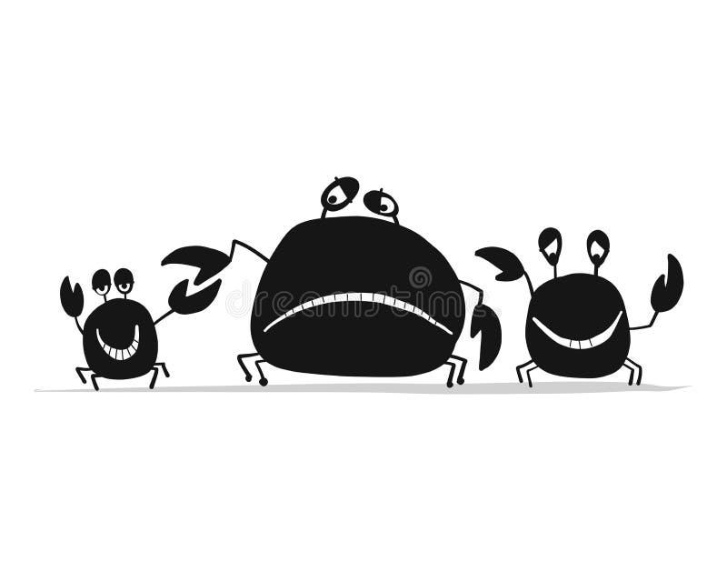Gli amici divertenti compensa la deriva, siluetta nera per la vostra progettazione royalty illustrazione gratis